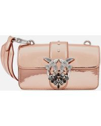 Pinko - Mini Love Sparkley Bag - Lyst