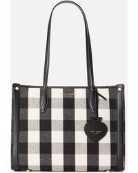 Kate Spade Market Gingham Medium Tote Bag - Black
