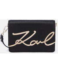 Karl Lagerfeld - K/signature Shoulder Bag - Lyst