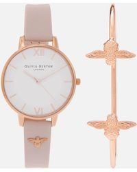 Olivia Burton - Bee Mine Watch And Bangle Gift Set - Lyst