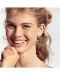 Thomas Sabo Royalty Star And Moon Drop Earrings - Metallic