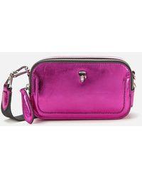 Karl Lagerfeld K/ikonik 3d Pin Camera Bag - Pink