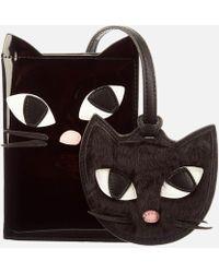 Lulu Guinness Kooky Cat Travel Set - Black
