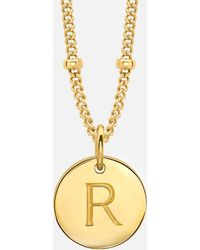Missoma - Silver 'r' Initial Necklace - Lyst