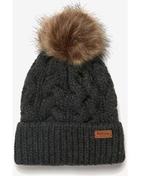 Barbour Penshaw Cable-knit Beanie - Grey