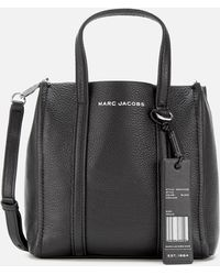 Marc Jacobs The Tag Tote 21 In Black Leather