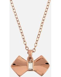 Ted Baker Sarahli Solitaire Bow Pendant - Multicolor