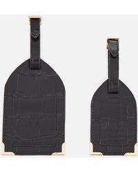 Aspinal of London Luggage Tags - Black