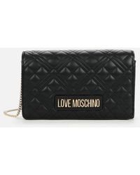 Love Moschino Quilted Chain Shoulder Bag - Black