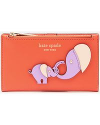 Kate Spade Applique Tiny Small Wallet - Orange