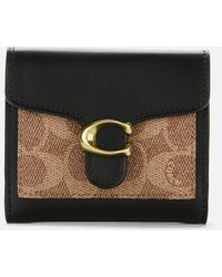 COACH Colorblock Coated Canvas Tabby Small Wallet - Black