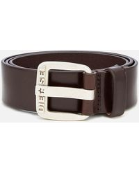 DIESEL B-star Leather Belt - Brown