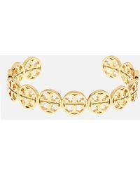 Tory Burch - Logo Cuff Bracelet - Lyst