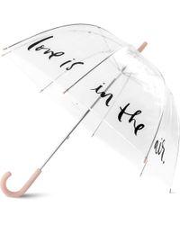Kate Spade - Polka Dot Clear Umbrella - Lyst