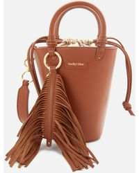 See By Chloé Cecilya Mini Bucket Bag - Brown