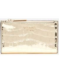 Kate Spade Sylvia Croc Small Wallet - Metallic