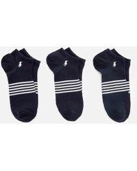 Polo Ralph Lauren - Stripe 3 Pack Socks - Lyst
