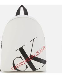 Calvin Klein Logo Backpack - White