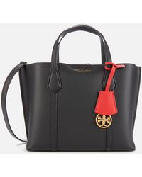 Tory Burch Perry Small Triple-compartment Tote Bag - Black