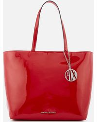 Armani Exchange - Patent Shopping Tote Bag - Lyst