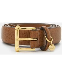 Lauren by Ralph Lauren - Endbar Embossed Leather Belt - Lyst