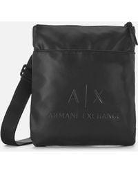 3a7c6312946 Armani Exchange Reporter Bag in Black for Men - Lyst