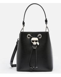 Karl Lagerfeld K/ikonik Bucket Bag - Black