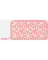 Tommy Hilfiger Iconic Tommy Large Monogram Wallet - Pink