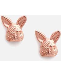 Olivia Burton 3d Bunny Studs Rose - Metallic