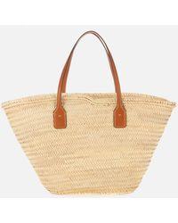 Tory Burch Ella Straw Basket Tote Bag - Natural