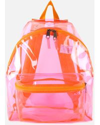 Eastpak Authentic Transparent Padded Pak'r Backpack - Pink