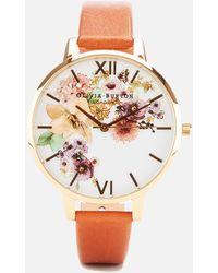 Olivia Burton Flower Show Watercolour Watch - Multicolour