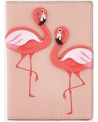 Kate Spade - Flamingo Passport Holder - Lyst
