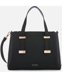 Ted Baker - Bow Adjustable Handle Lrg Tote - Lyst