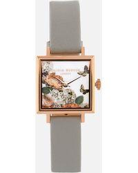 Olivia Burton Signature Florals Square Dial Watch - Multicolour