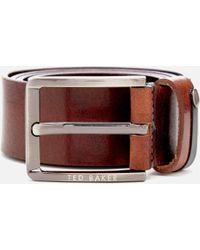 Ted Baker - Keepsak Contrast Keeper Leather Belt - Lyst