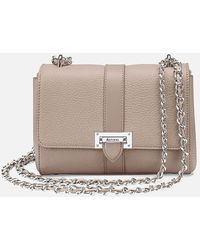 Aspinal of London Lottie Leather Across Body Bag - Natural