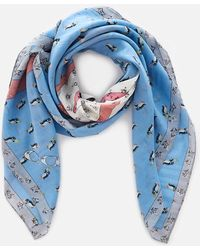COACH - Sharky Patchwork Oversized Square Scarf - Lyst