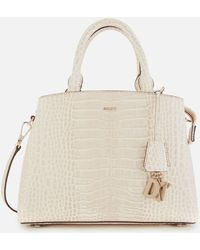 DKNY Paige Croco Medium Satchel - Natural