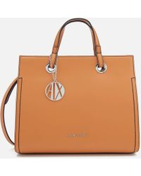 Armani Exchange - Structured Tote Bag - Lyst
