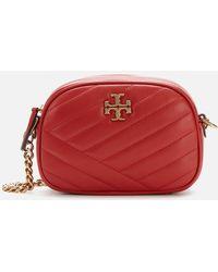 Tory Burch Kira Chevron Small Camera Bag - Red