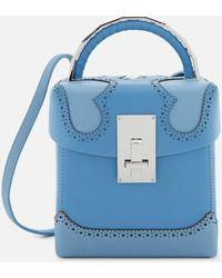 the VOLON Great L. Box Alice Bag - Blue