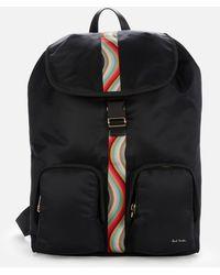 Paul Smith Backpack Nylon - Black