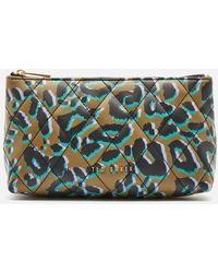 Ted Baker Quiltaz Quilted Leopard Detail Triangle Washbag - Multicolour