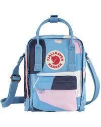 Fjallraven Kanken Art Sling Cross Body Bag Ocean Surface - Blue