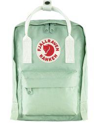 Fjallraven Kanken Mini Backpack Mint Green / Cool White