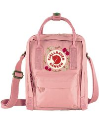 Fjallraven Kanken Sling Cross Body Bag Pink Embroidery