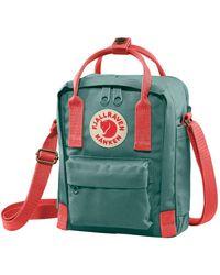 Fjallraven Kanken Sling Cross Body Bag Frost Green / Peach Pink - Blue
