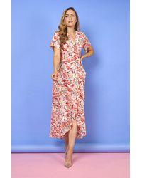 mykindofdress Sally Floral Print Dress - Blue