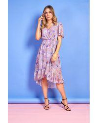 mykindofdress Maddie Purple Summer Print Dress